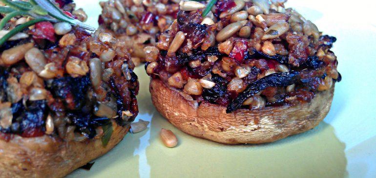 Vegetarijanske PUNJENE PEČURKE sa heljdom